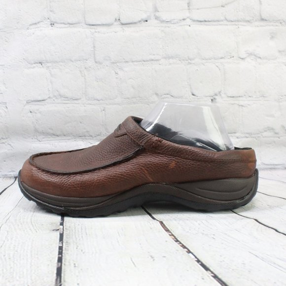 LL Bean Clog Mules Slip On Leather Shoe Size 9.5 W